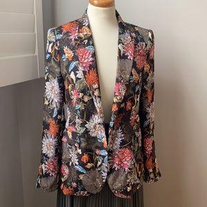 Zara Flora Long Sleeve Light Weight Blazer Medium